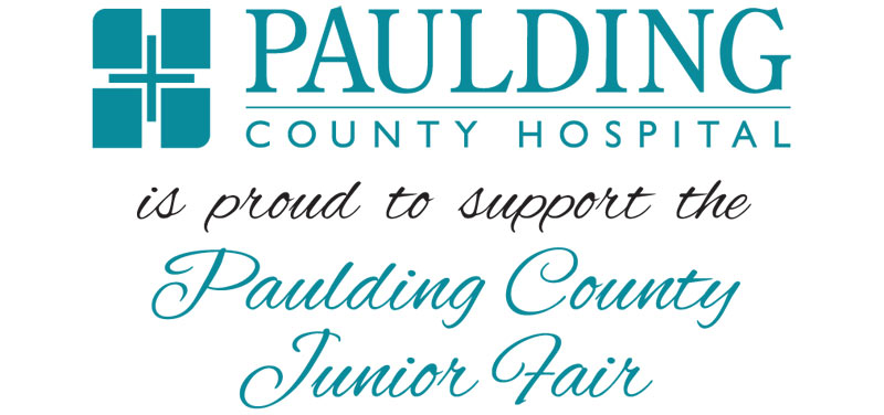 Proud supporter of the Paulding County Jr. Fair