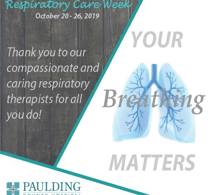 October 20-26 is Respiratory Care Week!